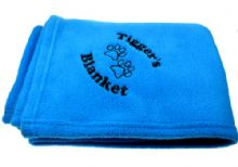 Personalised Luxury Blue Pet Blanket